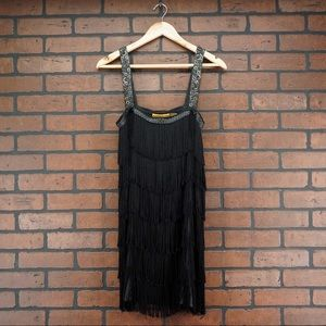 ALICE + OLIVIA Fringe Flapper 20s Gatsby Dress S